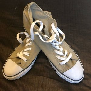 New!!!  21MEN High heel khaki canvas  shoes 8